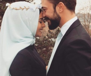 couple, hijab, and muslim image