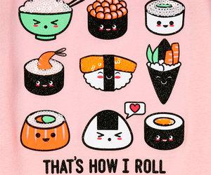 kawaii, roll, and sushi image