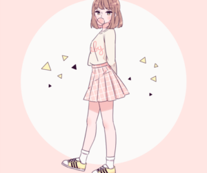 pink, anime, and cute image