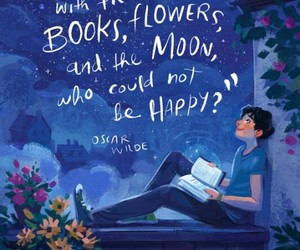 book, moon, and quotes image