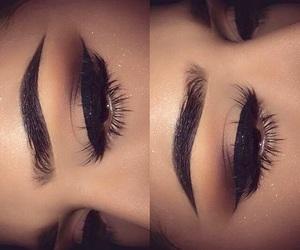 black, make-up, and eyes image