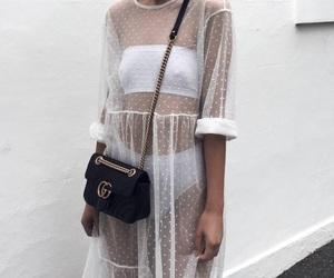 bag, bandeau, and dress image
