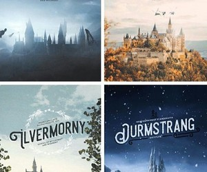 harry potter, hogwarts, and beauxbatons image