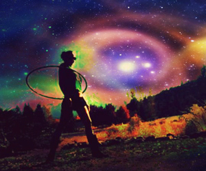 astronomy, dancing, and hooping image