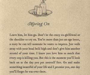 quotes, moving on, and Lang Leav image