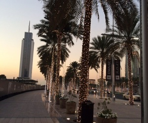 city, Dubai, and palms image