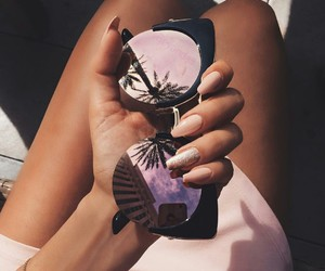 glasses, summer, and nails image