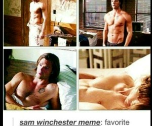 funny, sixpack, and spn image