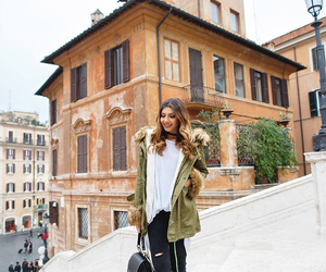 fashion blogger, rome, and ootd image