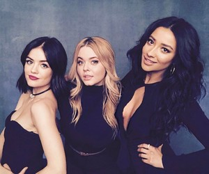 shay mitchell, lucy hale, and pretty little liars image