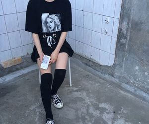 clothes, dark, and fashion image