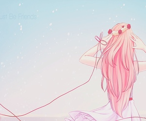 anime, vocaloid, and pink image