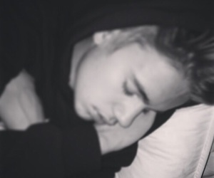 justin bieber, justin, and sleep image