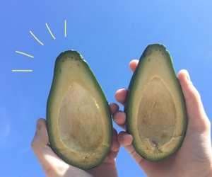 avocado, blue, and theme image