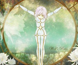 anime, flower, and lunar image
