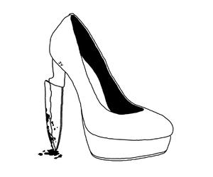 knife, art, and heels image