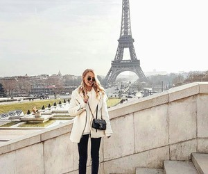 city, travel, and eiffel tower image