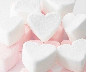 heart, marshmallow, and pink image