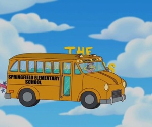 bus and the simpsons image