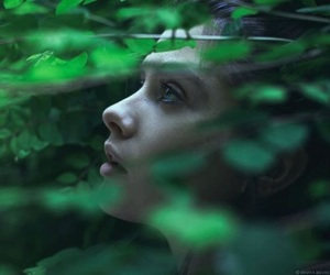 girl, green, and beautiful image