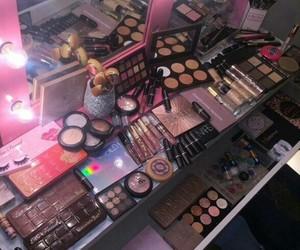 makeup, pink, and goals image