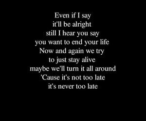 black&white, hard rock, and Lyrics image