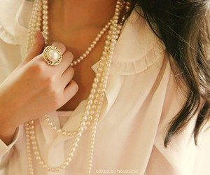 fashion, pearls, and ring image