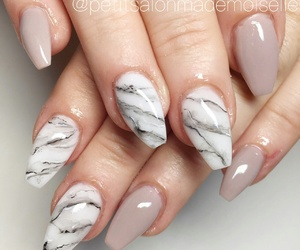 nails, autumn, and marble image
