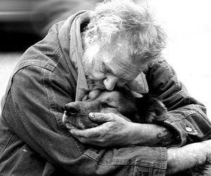 dog, love, and man image