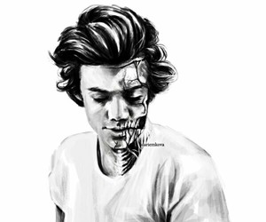 one direction art and Harry Styles image