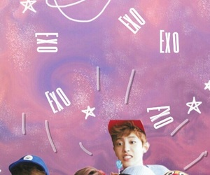 background, exo, and pink image