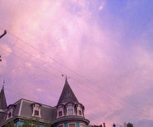 purple, sky, and sunset image