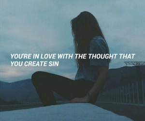 grunge, girl, and quote image