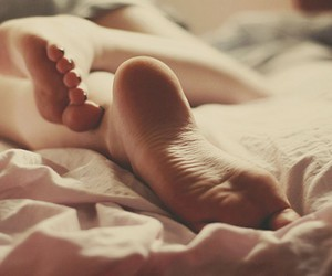 feet, bed, and legs image