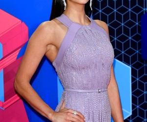 actress, pretty, and purple dress image