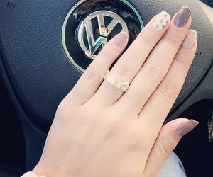 volkswagen, nude nails, and gelish image
