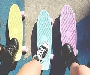 summer, skate, and pastel image