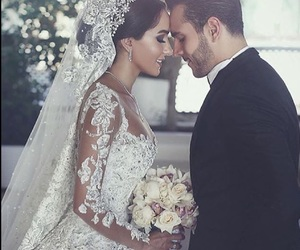 wedding, couple, and love image