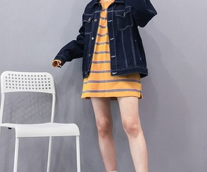 clothes, denim, and dress image
