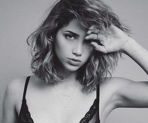 emily rudd, beauty, and black and white image