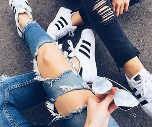 adidas, jeans, and sunnies image