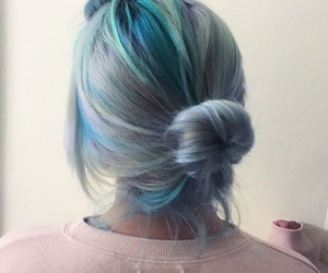 blue, grunge, and hair image