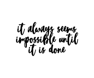 impossible, positive, and quote image