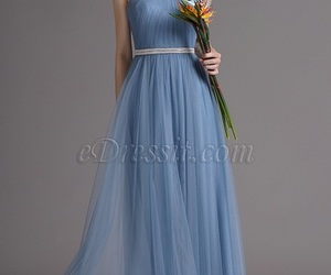 blue dress, halter dress, and edressit image