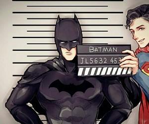 batman, superman, and background image
