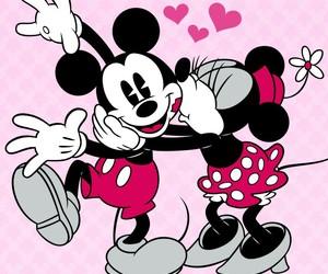 mickey, minnie, and love image