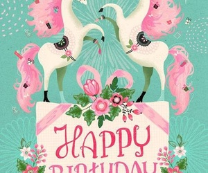 happy birthday and unicorn image