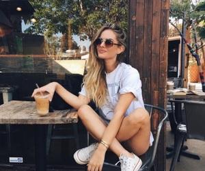 coffee, drinks, and girl image