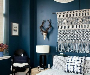blue, bedroom, and white image