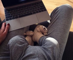 baby, family, and laptop image